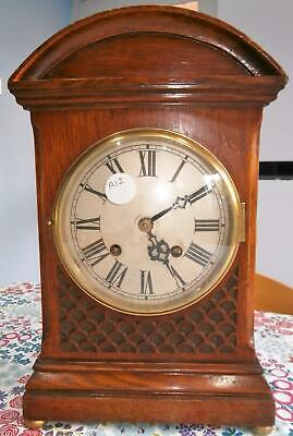 Golden Oak Ting Tang Bracket Clock in Good Working Order