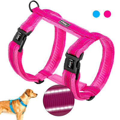No Pull Small Large Dog Harness Adjustable Reflective Plush Padded Strap Vest