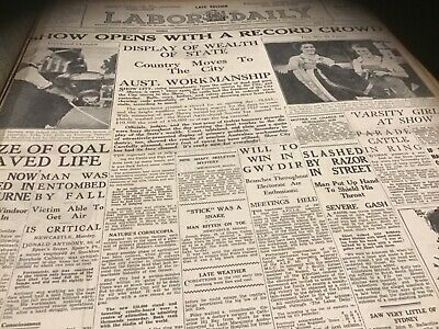 Old March 23 1937  newspaper Royal Easter Show Easts Newtown Rugby Horse racing