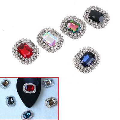 Women's Crystal Rhinestone Metal Shoes Clips Bridal Shoe Charms Decor  NT