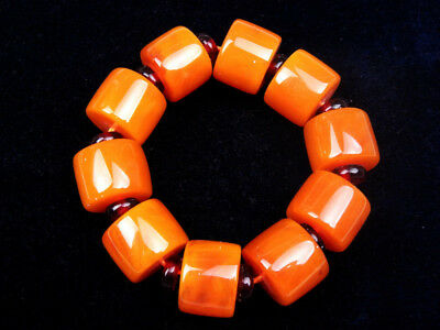 Chinese Beewax Cube Beads Bangle Bracelet Flexible Fit All Sizes #12271801