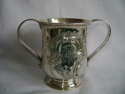 Antique Hallmarked Solid Silver George Iii Loving Cup By James Stamp London 1778