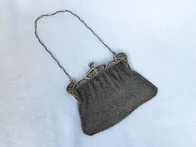 Lovely Silver Mesh Evening Purse