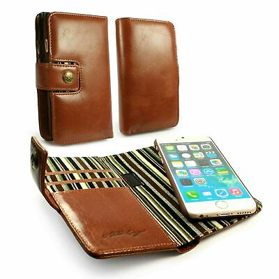 Alston Craig Genuine Leather Magnetic Shell Wallet Case For iPhone 6s/7/8 - Brow