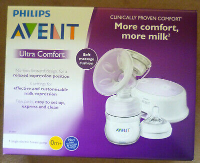 Breast pump (Philips - AVENT) battery or electric (2-pin), white/clear