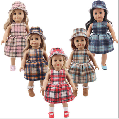 "Handmade Accessories Fits 18""Inch American Girl Doll Two-Piece Dress With Hood"