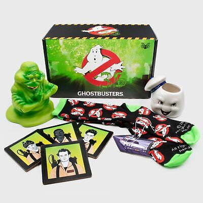 CultureFly NEW Ghostbusters Collectors Box - Slimer Figure,Planter,Socks & More