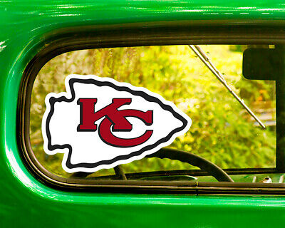 2 KANSAS CITY CHIEFS DECAL Stickers Bogo For Car Window Bumper Free Shipping