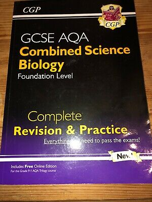 GCSE  AQA Combined Science - Biology, Foundation Level, Revision & Practice Book