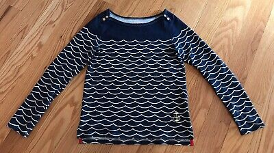 Juicy Couture Girls Kids Children Long Sleeve Top Sweater. Nautical Navy. Size L
