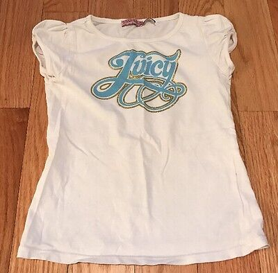 Juicy Couture Girls Kids Children Tshirt Top Shirt White. Size 6. Juicy Logo.