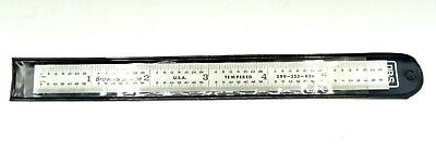 "Brown & Sharpe 6"" Ruler Chrome Finish Tempered Steel Flexible Rule 599-323-629"