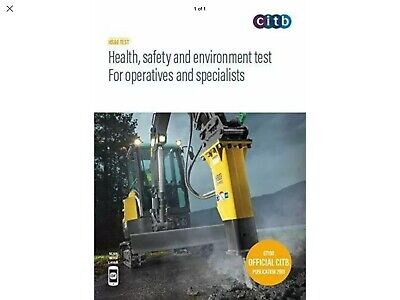 LATEST CITB CSCS  Card Test DVD/ROM 2019 Health & Safety DVD