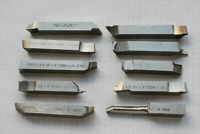 HSS Lathe Tool Bits. 3/8 Square. 10 Pieces. Used.