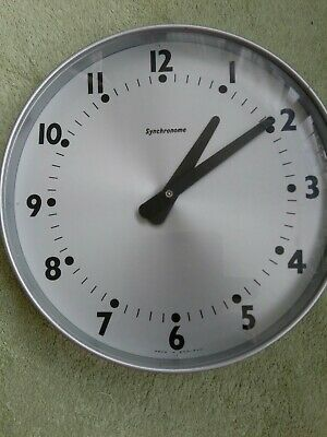 ENGLISH SYNCHRONOME Industrial Midcentury Vintage Slave Wall Clock
