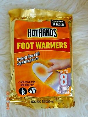 Bundle x 5 Pairs of HotHands Foot Warmers ~ Hot Hands Packs Heat Feet ~ New