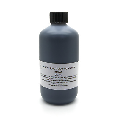 Black Leather Dye Colour Repair Refreshing Manufacturing Re-colouring Finish