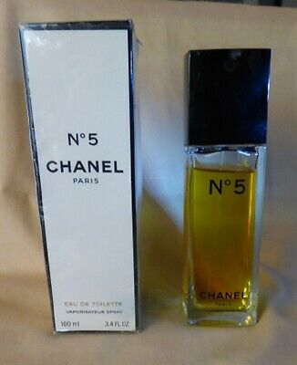 Vintage Chanel No 5 Eau de Toilette 100ml 3.4 oz Natural Spray Fragrance