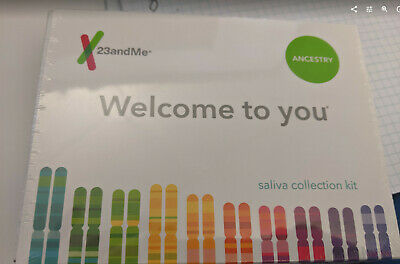 23andMe Saliva Collection Kit for Ancestry DNA service -- Brand New Unopened box