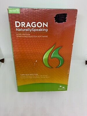 Dragon NaturallySpeaking 12.0 Speech To Text Software Dictation Recognition New