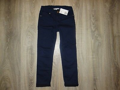 NEW Girls H&M skinny trousers/ navy biker pants/ soft jeans size 8-9 years 134cm