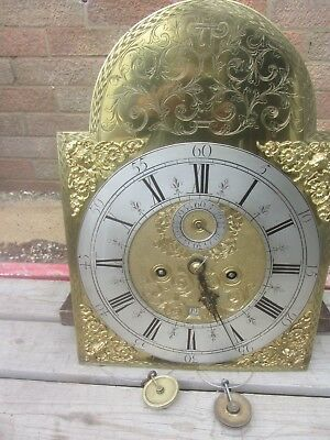Original Brass Month Duration 12 X 17 Face & Movement Outside Count Wheel