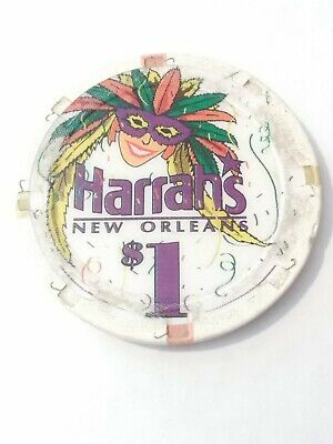 Harrahs Casino New Orleans $1.00 Logo Gaming Chip Great For Any Collection!