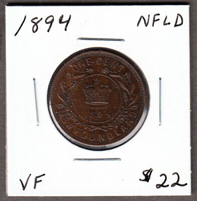 1894 Newfoundland - Large Cent - Very Fine - Victoria  - CA04