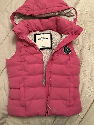Girls Abercrombie and Fitch Gilet Pink Size L