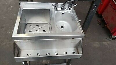 Cocktail Bar Station, Stainless Steel, Fully Insulated Ice Well icewell 650mm