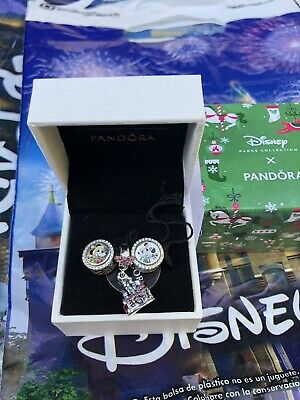 Disney Parks 2019 Christmas Holiday Pandora Charm Set - Mickey Minnie Castle