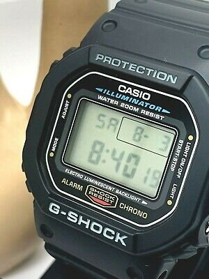 Casio 3229 G-Shock Mens Quartz Digital Black Resin Sport 43.5mm Watch DW5600E-1V
