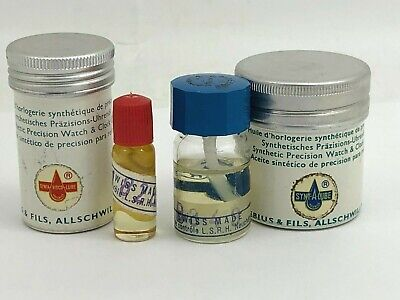 2 ~ Moebius 901075 & 9020/2 Synt-A-Lube Watch / Clock Oil