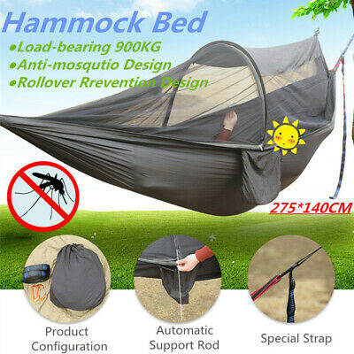 Double Person Travel Outdoor Camping Tent Hanging Hammock Bed W/ Mosquito Net