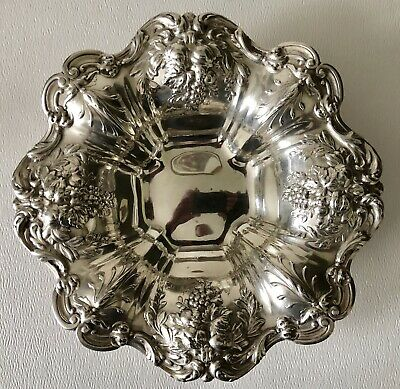 """1952 Reed & Barton Sterling Silver Francis I Fruits 8"""" Serving Bowl X569 10ozt"""