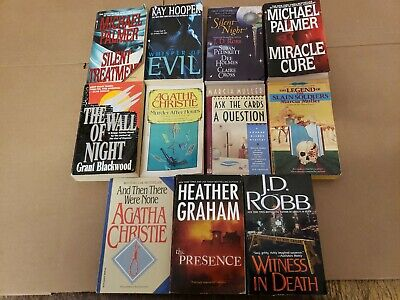 Lot of 22 Mystery Thriller Action Fiction Paperbacks Popular Author Books MIX A