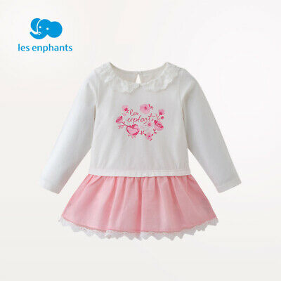 Li baby room baby girl spring and autumn knitted dress girl lace side sweet cute