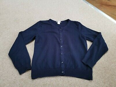Girls School Uniform H&M Navy Blue Cardigan Age 14 Years
