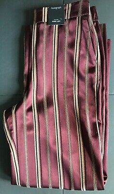 Ladies M & S Autograph Size 10 Regular Red Mix Trousers B NWT