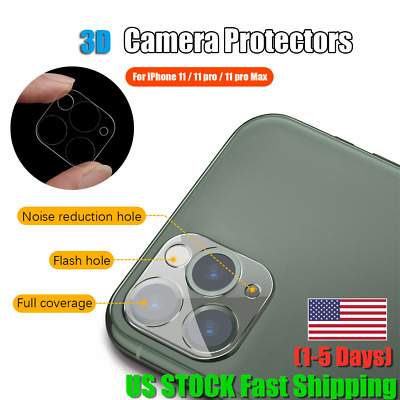Full Cover HD Tempered Glass Camera Lens Screen Protector For iPhone 11 Pro Max♫