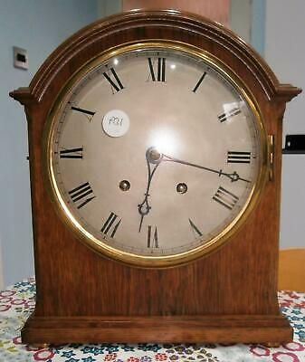 W&H Oak Ting Tang Bracket Clock in Good Working Order & Excellent Condition