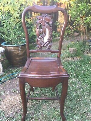Old Antique Chinese Solid Rosewood Marble Chair