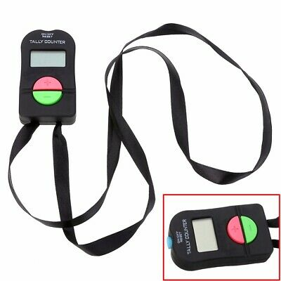Digital Tally Counter Electronic Manual Clicker Golf Gym Security Running Kit UK