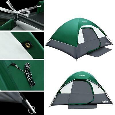 3-4 Person Outdoor Camping Waterproof 4 Season Family Tent Green Hiking US