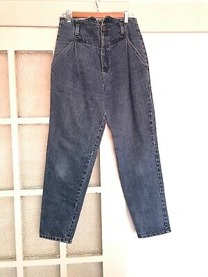 Fabulous Vintage High Waisted Jeans 1980s - Made In USA - 29 Inch Waist