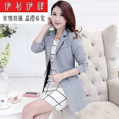 New hot 2019 spring coat women's korean style tide OL medium long long-sleeved p