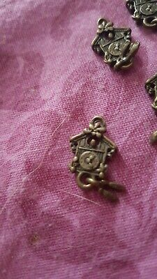 Small cuckoo clock charms