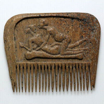 Scarce-Circa 700-1400 Ad Greek B0Ne Comb With Nice Depictions