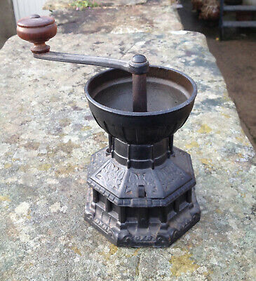 Antique Victorian Coffee Grinder by A K & Sons Cast Iron