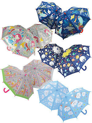 Floss & Rock Colour Changing Umbrella Space Mermaid Girls Boys Childs Present